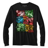 Street Fighter Comic Black Adult Long Sleeve T-Shirt