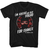 Silence Of The Lambs Friend For Dinner Black Adult T-Shirt