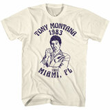 Scarface Miami '83 Natural Adult T-Shirt