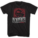 Scarface S Is For Scarface Black Adult T-Shirt