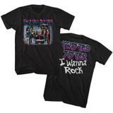 Twisted Sister I Wanna Rock Black Adult T-Shirt