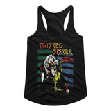 Twisted Sister Stay Hungry Black Junior Women's Racerback Tank Top T-Shirt