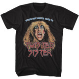 Twisted Sister Not Gonna Take It Black Adult T-Shirt