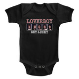 Loverboy Get Lucky Black Baby Onesie T-Shirt
