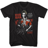 Billy Idol August '82 Black Adult T-Shirt