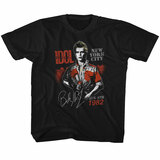 Billy Idol August '82 Black Youth T-Shirt