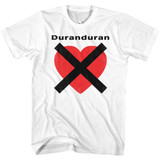 Duran Duran Heart X White Adult T-Shirt