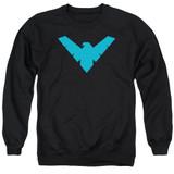 Batman Nightwing Symbol Adult Crewneck Sweatshirt Black