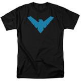 Batman Nightwing Symbol Adult 18/1 T-Shirt Black