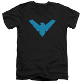 Batman Nightwing Symbol Adult V Neck T-Shirt