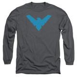 Batman Nightwing Symbol Long Sleeve Adult 18/1 T-Shirt