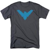 Batman Nightwing Symbol Adult 18/1 Charcoal T-Shirt