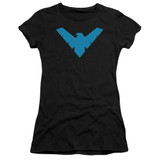 Batman Nightwing Symbol Junior Women's Sheer T-Shirt