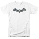 Batman Arkham Knight Descending Logo White Adult 18/1 T-Shirt