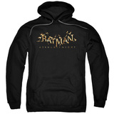 Batman Arkham Knight AK Flame Logo Black Adult Pullover Hoodie Sweatshirt