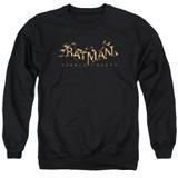 Batman Arkham Knight AK Flame Logo Black Adult Crewneck Sweatshirt