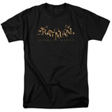 Batman Arkham Knight AK Flame Logo Black Adult 18/1 T-Shirt