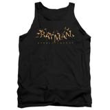 Batman Arkham Knight AK Flame Logo Black Adult Tank Top T-Shirt