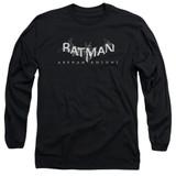 Batman Arkham Knight AK Splinter Logo Black Adult Long Sleeve T-Shirt