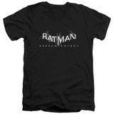 Batman Arkham Knight AK Splinter Logo Black Adult V-Neck T-Shirt