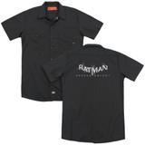 Batman Arkham Knight AK Splinter Logo (Back Print) Black Adult Work Shirt