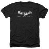 Batman Arkham Knight AK Splinter Logo Heather Black Adult T-Shirt