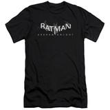 Batman Arkham Knight AK Splinter Logo Premium Canvas Black Adult Slim Fit T-Shirt
