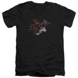 Batman Arkham Knight AK Tech Black Adult V-Neck T-Shirt