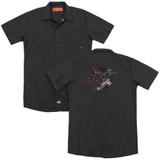 Batman Arkham Knight AK Tech (Back Print) Black Adult Work Shirt