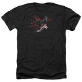 Batman Arkham Knight AK Tech Heather Black Adult T-Shirt