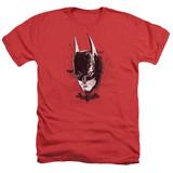 Batman Arkham Knight AK Head Heather Red Adult T-Shirt