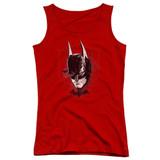 Batman Arkham Knight AK Head Red Junior Women's Tank Top T-Shirt