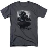 Batman Arkham Knight Perched Charcoal Adult 18/1 T-Shirt