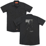 Batman Arkham Knight Bat Brood (Back Print) Black Adult Work Shirt