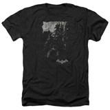 Batman Arkham Knight Bat Brood Heather Black Adult T-Shirt