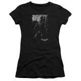 Batman Arkham Knight Bat Brood Sheer Black Junior Women's T-Shirt