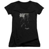 Batman Arkham Knight Bat Brood Black Junior Women's V-Neck T-Shirt