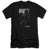 Batman Arkham Knight Bat Brood Premium Canvas Black Adult Slim Fit T-Shirt