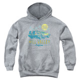 Back To The Future 85 Youth Pullover Hoodie Athletic Heather