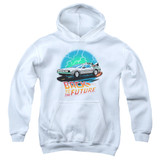 Back To The Future Airbrush Youth Pullover Hoodie White