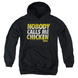 Back To The Future Chicken Youth Pullover Hoodie Black