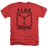 Back To The Future Flux Capacitor Adult Heather Red