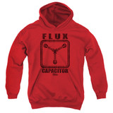 Back To The Future Flux Capacitor Youth Pullover Hoodie Red