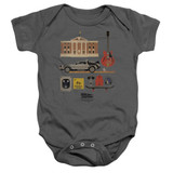 Back To The Future Items Infant Baby Snapsuit Onesie Charcoal