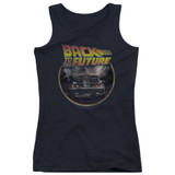 Back To The Future Back Junior Women's Tank Top Black