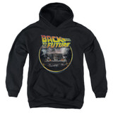 Back To The Future Back Youth Pullover Hoodie Black