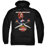 Child's Play 2 Chucky's Back Adult Pullover Hoodie Sweatshirt Black