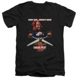 Child's Play 2 Chucky's Back Adult V-Neck T-Shirt Black