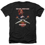 Child's Play 2 Chucky's Back Adult Heather T-Shirt Black