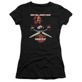 Child's Play 2 Chucky's Back Junior Women's Sheer T-Shirt Black